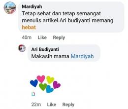 Dokpri tangkap layar Akun Facebook Ari Budiyanti