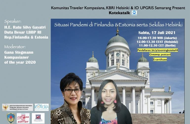 Ayo ke Helsinki Sabtu ini bersama Koteka, KBRI Helsinki dan IO UPGRIS (Dokumentasi Koteka)