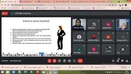 Gambar 2. Kegiatan pelatihan digital marketing melalui google meet/dokpri