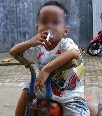 Illustrasi bocah merokok (pic: news.detik.com)