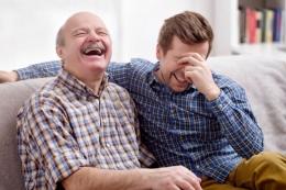 Ilustrasi jokes bapak-bapak (dad jokes). | Sumber: A. Koldunova/Shutterstock via almanac.com
