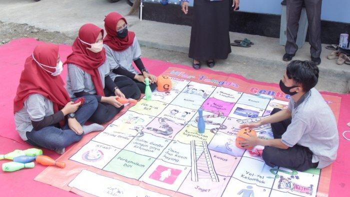 Ilustrasi permainan edukatif ular tangga| Sumber:  Tribunbanyumas.com/Khoirul Muzaki