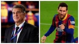 Joan Laporta dan Lionel Messi (Marca.com)
