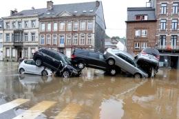 Salah satu tempat di negara Belgia yang terkena banjir | foto: sueddeutsche.de/AFP