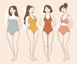 Bentuk tubuh akan bervariasi selama tidak dalam kondisi ekstrim (sumber: People vector created by freepik via www.freepik.com)