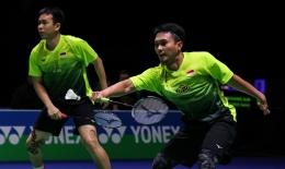 Mohammad Ahsan dan Hendra Setiawan, ganda putra Indonesia yang diharapkan meraih medali di Olimpiade Tokyo 2020 (Foto BWFbadminton.com)