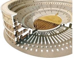 Ilustrasi interior Colosseum. Sumber: Inklink Firenze / www.smithsonianmag.com
