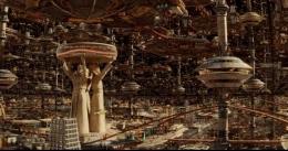 Gambaran kota di TVA | sumber: Tangkapan layar Loki episode 1