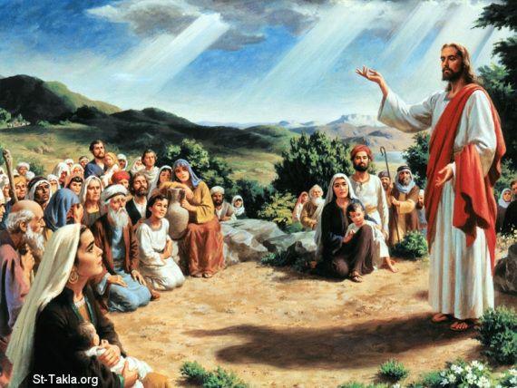Yesus mengajar orang banyak. Foto: john777site.wordpress.com.
