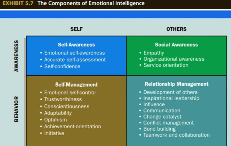 Source: Adapted from Richard E. Boyatzis and Daniel Goleman, The Emotional Competence Inventory---University Edition (Boston,MA: The Hay Group, 2001)