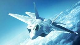 Jet tempur F-22 Raptor. Sumber: https://www.wallpaperflare.com/areal-photography-of-gray-usaf-f-22-raptor-fighter-plane-wallpaper-46032