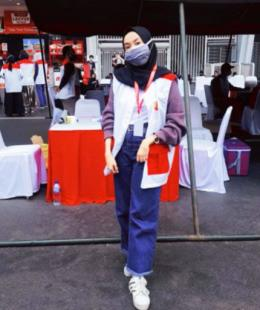 Zahra bangga jadi relawan. foto dok. pribadi