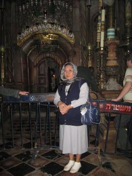 Di depan Makam Yesus ( dok pri )