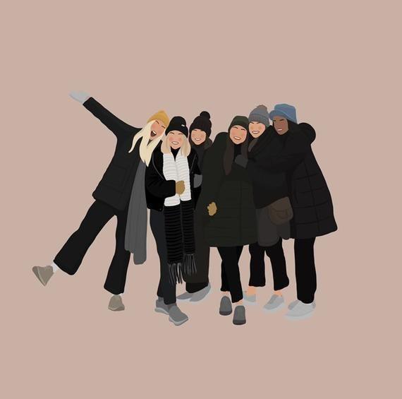 Ilustrasi pertemanan (Sumber: Pinterest-etsy.com)