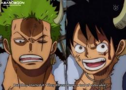 Luffy dan Zoro yang akan mengamuk di anime One Piece episode 984. (Sumber: deviantart.com)