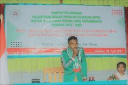 Paskalis Abi ketua Ikatan Mahasiswa Bikomi. Foto oleh Paskalis