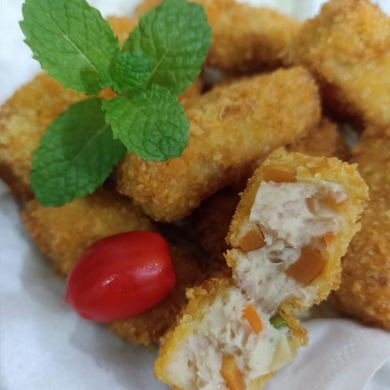 Ilustrasi Nugget Ayam Sayur. (Dokumentasi pribadi)