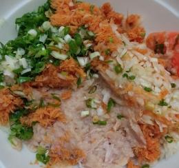Ilustrasi bahan Nugget Ayam Sayur. (Dokumentasi pribadi)