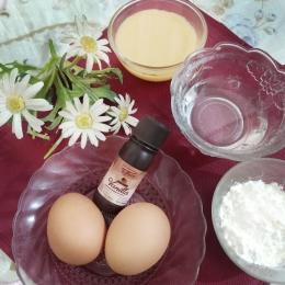 Ilustrasi bahan custrad/vla pie susu teflon. (Dokumentasi pribadi)