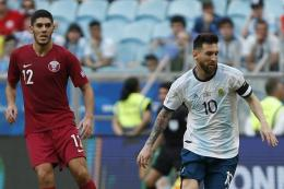 Laga Qatar vs Argentina di Copa America 2019. Foto: AFP/JEFERSON GUAREZE dipublikasikan Kompas.com