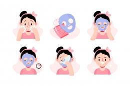 Sumber : https://www.freepik.com/free-vector/sheet-mask-instructions-illustrated_9712978.htm