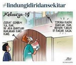 Saling membantu saat pandemi (Supriyanto Narsim/via Facebook kawalcovid19.id)