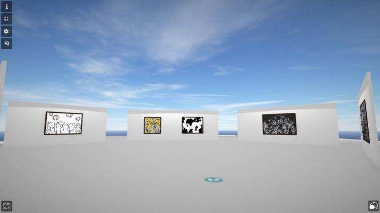 Pameran Ngajangkau di Artsteps.com tanggal 21 Juli - 21 Agustus 2021.