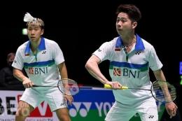 Pasangan ganda putra Indonesia, Kevin Sanjaya (kanan) dan Marcus Gideon, jadi unggulan 1 di Olimpiade 2020  Sumber: Badmintonphoto/Yohan Nonotte