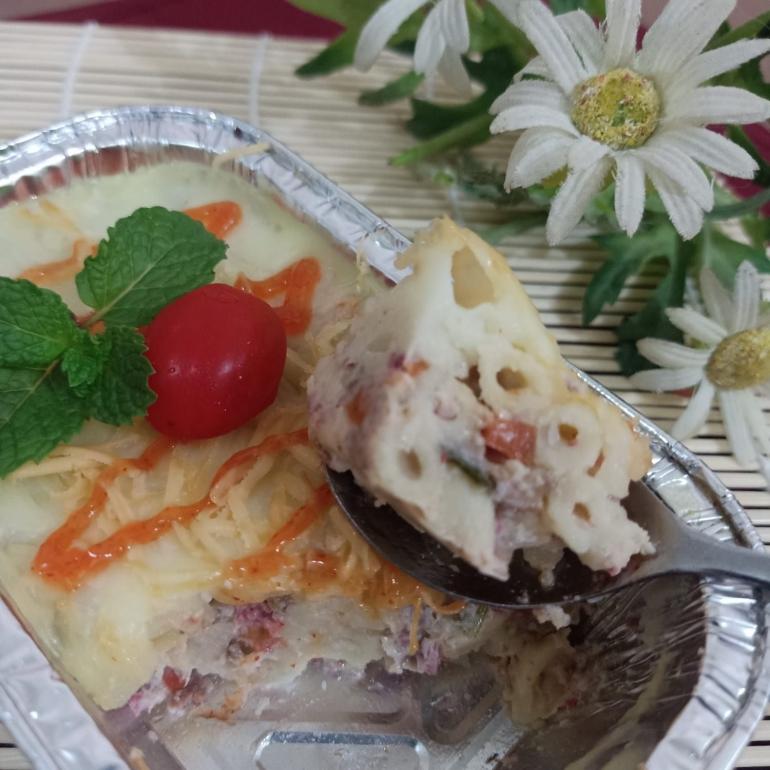Ilustrasi macaroni shotel yang lezat di setiap sendoknya | Dokumentasi pribadi