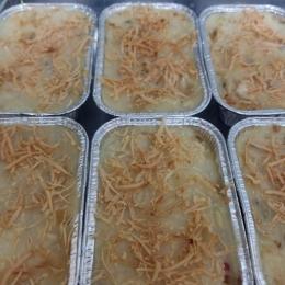 Ilustrasi macaroni schotel yang baru keluar dari oven | Dokumentasi pribadi
