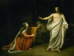 Lukisan Appearance of Jesus Christ to Maria Magdalena (1835) oleh Alexander Andreyevich Ivanov [domain publik]