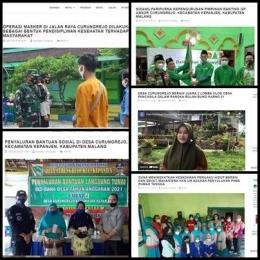 Kumpulan artikel berita yang dibuat oleh Mahasiswa KKN UM Curungrejo 2021 pada website desa Curungrejo (Sumber: desa-curungrejo.malangkab.go.id)