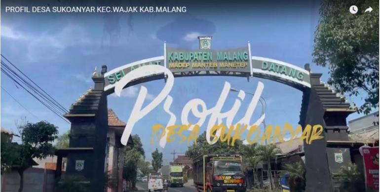 Cover video profil Desa Sukoanyar/ Dok. Tim KKN UM