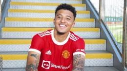 Jadon Sancho resmi perkuat lini depan Manchester United 2021/2022.bbc.com