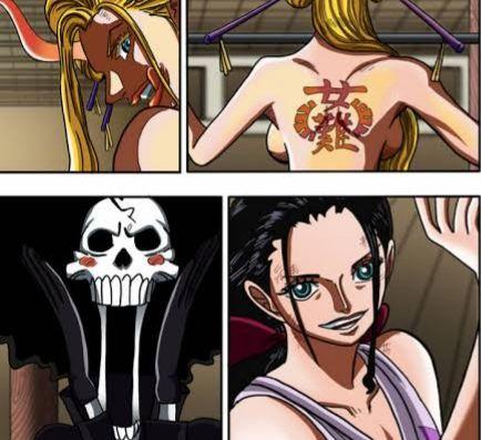 Black Maria vs Robin dan Brook, highlight manga One Piece 1020. (Sumber: deviantart.com)