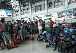 suasana di bandara domestik Kathmandu : foto dokumentasi pribadi