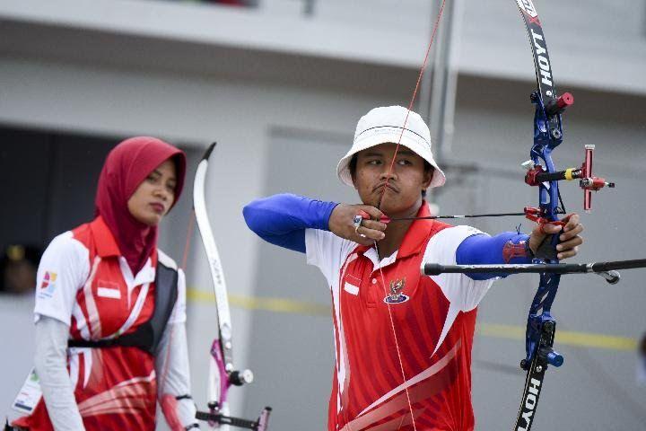 Diananda & Riau Ega saat tampil di Asian Games/ Antara Foto