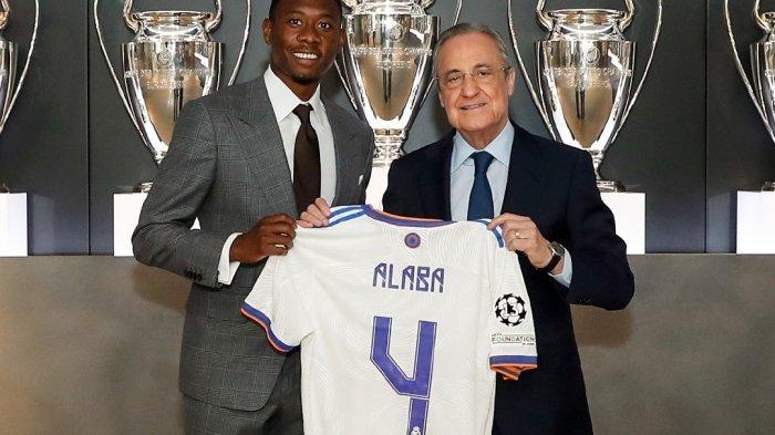 Real Madrid resmi memperkenalkan David Alaba sebagai pemain anyar mereka pada Rabu, 21 Juli 2021.  Sumber: Twitter Real Madrid C.F.@realmadriden via bali.tribunnews.com