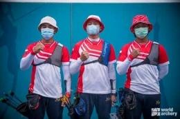 Trio pemanah putra Indonesia di Olimpiade Tokyo/WorldArcherry..