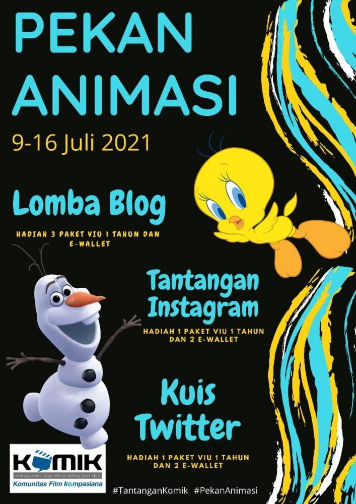 Yuk cari tahu siapa saja para pemenang Pekan Animasi yang dihelat KOMiK 9-16 Juli 2021   dok. KOMiK