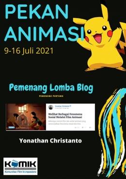 Selamat buat Yonathan Christanto