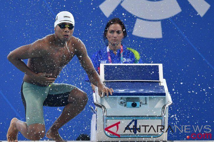 Perenang andalan Indonesia, Aflah Fadlan, siap tampil all out di Olimpiade 2020/Foto: Antara Foto/Inasgoc/Sigid Kurniawan
