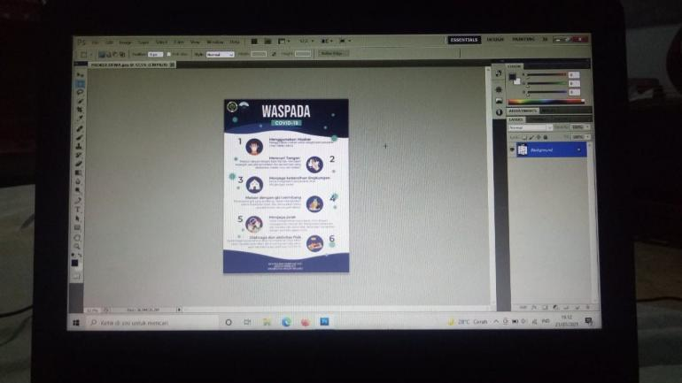 Proses Pembuatan Leaflet (Dokpri)