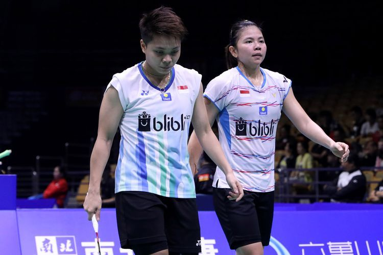 Ganda putri Indonesia, Greysia Polii/Apriani Rahayu meraih kemenangan pertama di Olimpiade 2020 usai mengalahkan ganda putri Malaysia/Foto: Kompas.com