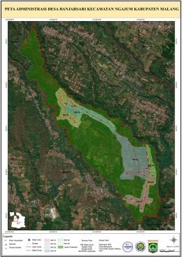 Hasil pembuatan peta administrasi dan potensi lahan Desa Banjarsari/Dokpri