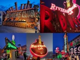 Bekas Neon Sign Hotel & Club tua di Museum Neon- Las Vegas. Sumber: dokumentasi pribadi