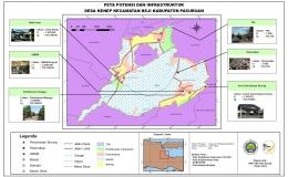 Gambar. Peta Potensi dan Infrastuktur Desa Kenep/Dokpri