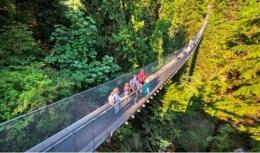Jembatan Gantung di Capilano Suspension Bridge Park Vancouver   Sumber www.capbridge.com