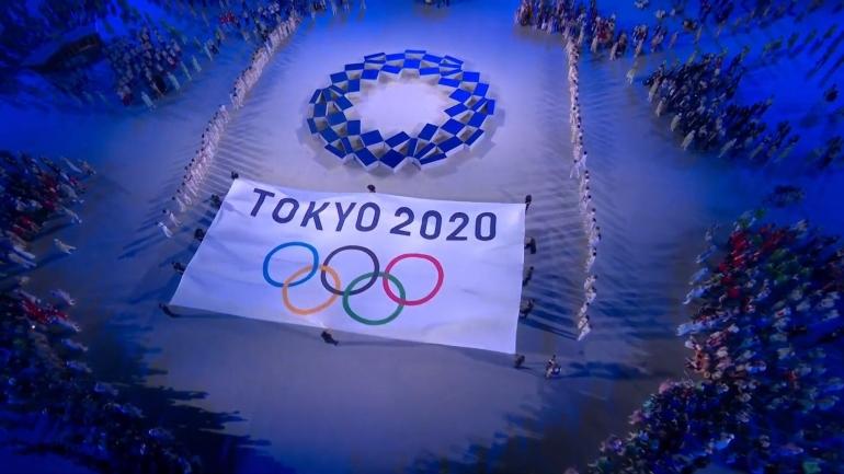Suasana pembukaan Olimpiade Tokyo 2020 (sumber: twitter @Tokyo2020)