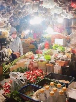 Kondisi Toko Kembang di Pasar Jaya Lenteng Agung, Jakarta Selatan. (dokpri)